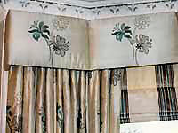 Silk interlined roman blind